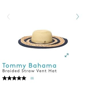 Navy accented Tommy Bahama straw hat!